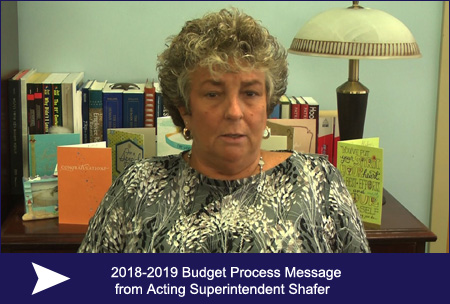 2018-2019 Budget Process Message from Acting Superintendent Shafer