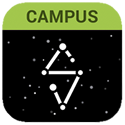 Campus Student App Logo. Choose either the Google Play or Apple App Store logos below to get the app!